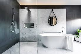 Modern Marble Bathroom Minosa Design Win Big At Hia Nsw Kitchen Bathroom Awards The