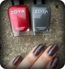 concrete and nail polish zoya noot u0026 elisa spider nails for halloween