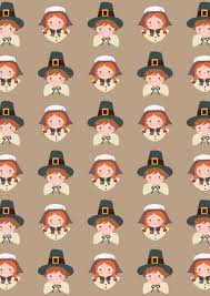 thanksgiving scrapbook paper pilgrim children