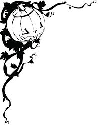 cute jack o lantern clipart jack o lantern corner black and white clipart etc