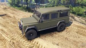 green land rover rover defender 110 flat green for spin tires