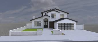modern house garage modern house 2 story 4 bedrooms 2 car garage 3d model