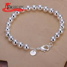 trendy 925 sterling silver chain small balls rolo