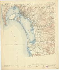 Map Of San Diego California by Sdag Online Historical Topographic Maps San Diego County
