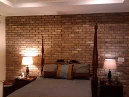 stunning brick walls design for bedroom area with wooden floors