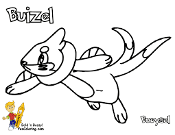 pokemon coloring pages buizel olegandreev me