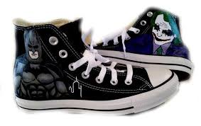 wedding shoes groom batman shoes joker shoes painted converse wedding shoes