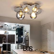 chrome flush mount light 4 light 8 light modern glass shade semi flush mount ceiling light