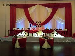20 Ft Curtains Set 10ft 20ft White And Burgundy Wedding Backdrop Curtains