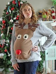 ugly sweater christmas party maternity style ba ha ha