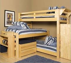 Bunk Beds For Three Dorm Room And Dorm Rooms Decorating Ideas