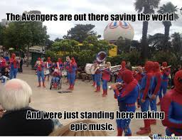 Marching Band Memes - spiderman marching band by newton meme center