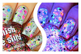 tgif neon custom blended neon glitter nail polish