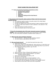 college prep biology evolution test review sheet 1
