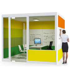 spacio meeting pods are acoustic office room solutions for the