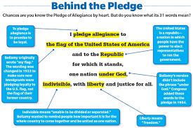 I Pledge Of Allegiance To The Flag The Pledge Turns 125