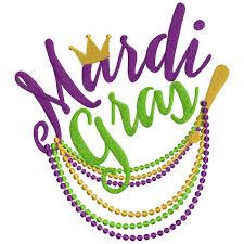mardi gras beeds gras filled machine embroidery design digitized pattern