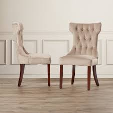 furniture deluxe beige leather parson dining chairs with knotted