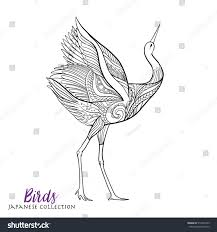 royalty free japanese crane coloring book for u2026 516478189