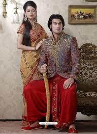 shop online purple wedding banarasi indo western sherwani