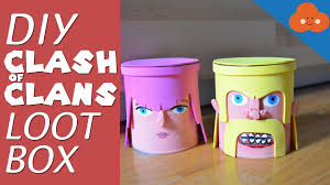 diy clash of clans loot box money bank youtube
