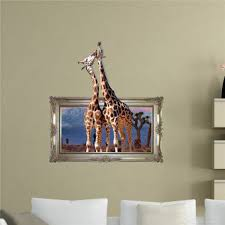 giraffe 3d wall decal pag sticker removable wall picture art