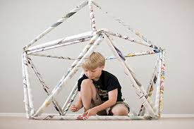 How To Build A Tent Newspaper Forts Crafts For Kids Pbs Parents