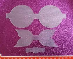 hair bow templates flutter bow large plastic bow template 3 pieces hair bow
