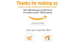 gift card offers is india s most visited e commerce website offers free