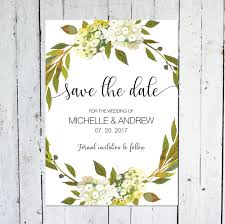 save the date cards floral postcard greenery watercolor
