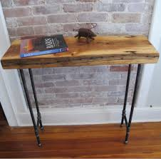 Console Bar Table by Industrial Console With Iron Pipe Legsreclaimed Wood From