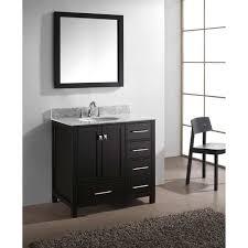 Virtu Bathroom Vanity by Virtu Usa Caroline Avenue 36 Inch Italian Carrara White Marble