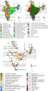 Map Of India by New Vegetation Type Map Of India Prepared Using Satellite Remote