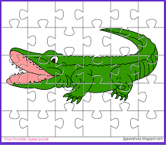 free printable jigsaw puzzle game alligator jigsaw puzzle