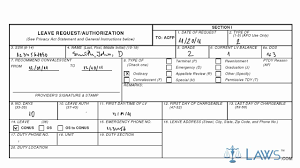 Sample Letter For Medical Leave Application Learn How To Fill The Af Form 988 Leave Request Authorization