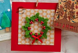 make a christmas card how to make a felt christmas card cardmaking felting and