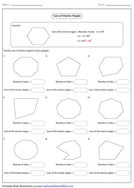 gallery for gt interior angles of a polygon worksheet exterior