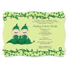 2 peas in a pod two peas in a pod personalized baby shower invitations