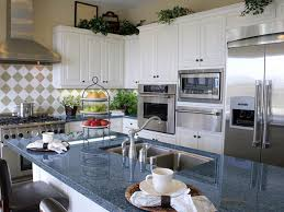 Kitchen Counter Islands by Blue Granite Countertops White Cabinets Blue Pearl Granite