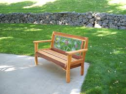 wine country garden bench wood country
