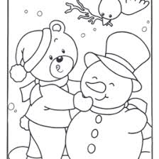 preschool coloring pages winter animals archives mente beta
