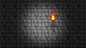 Dark Brick Wall Background Dark And Spooky Dungeon With Torches Hanging On A Brick Wall
