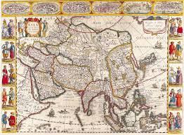 World Map Of Asia by Antique Maps Of The Worldmap Of Asiajan Janssonc 1632 Looking