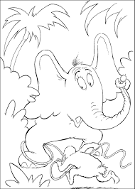 horton the elephant coloring pages getcoloringpages com