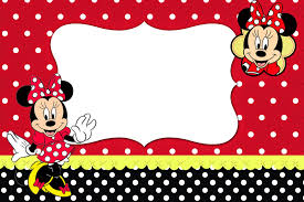 Minnie Mouse Invitation Card Minnie Red Black Yellow And Polka Dots Free Printable