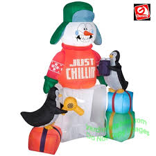 gemmy airblown 5 1 2 animated shivering snowman in