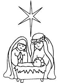 christmas nativity clipart black white clipartxtras