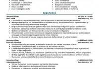 Examples Of Resumes Best Security by Sample Of Resume For Security Guard Fred Resumes
