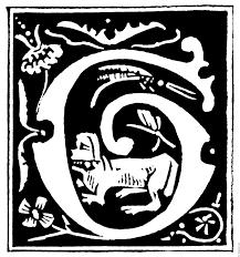 decorative initial letter u201cg u201d from 16th century