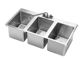 Krowne  X  Three Compartment DropIn Hand Sink HS - Triple sink kitchen
